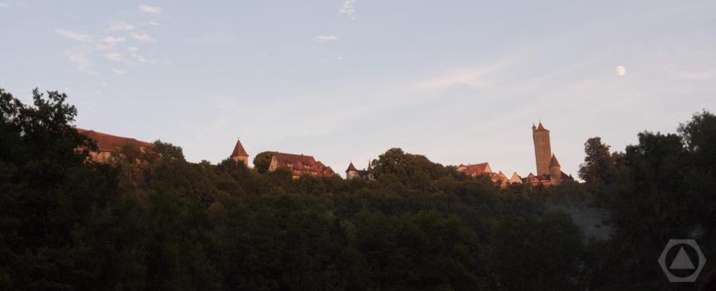 Rothenburg vom Konzertgelände aus - eine malerische Kulisse.