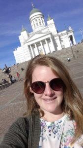 Christine führte Anti-Mobbing-Workshops an Schulen in Helsinki durch.