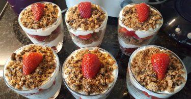 Erdbeeren, Nachtisch, Laufgelage