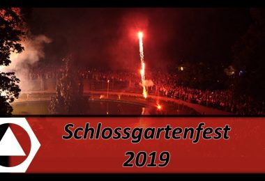 Schlossgartenfest, Video, FAU, Erlangen, Feuerwerk